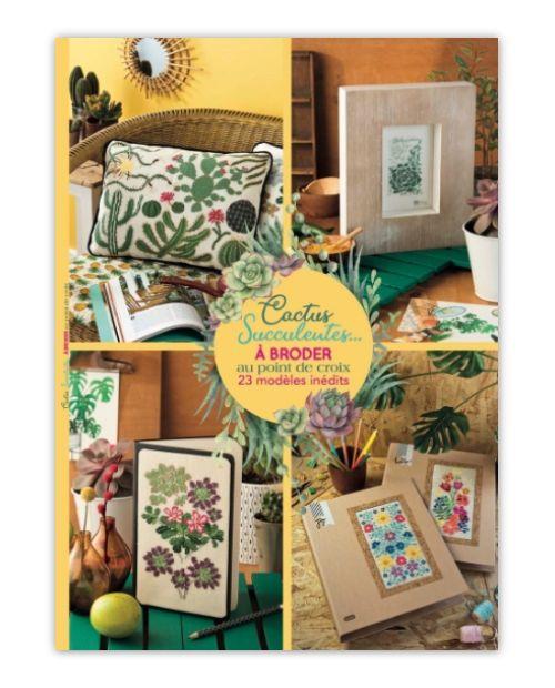Hors-série : Cactus | Livres de broderie, Point de croix, Cactus