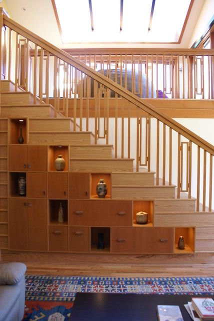 Rubin stairs - asian - staircase - seattle - Cleary Design Studio, LLC