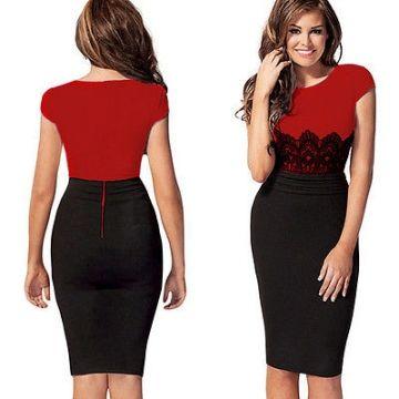Vestidos rojo y negro corto
