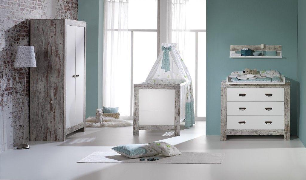 Chambre Nordic Chic : lit kit-transfo commode armoire 2 portes