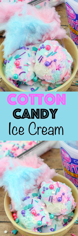 Cotton candy ice cream ice cream candy gluten free ice
