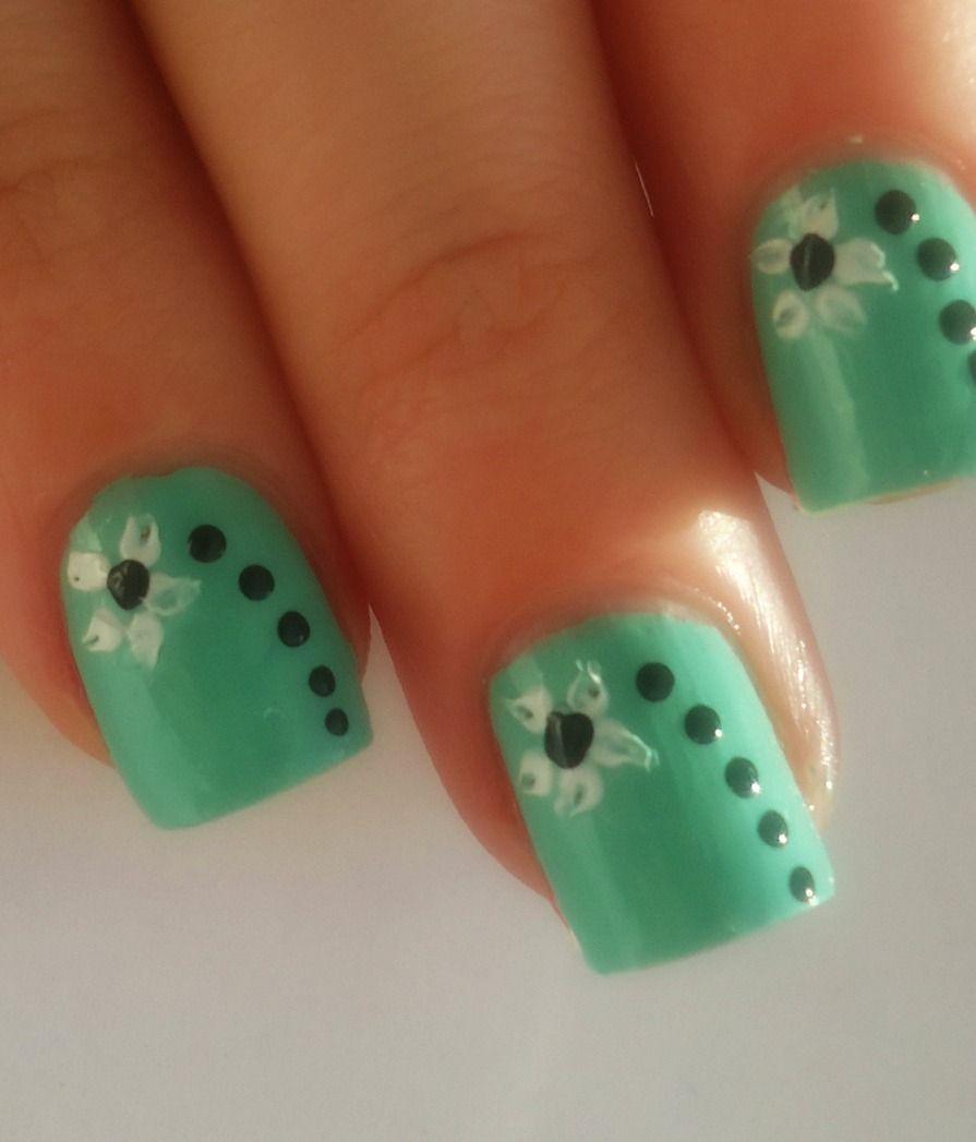 Verde menta uñas | Nail Art! | Pinterest | Green nail, Makeup and ...