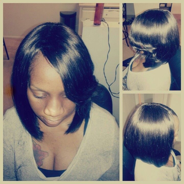 Full Sew In Bob No Hair Out Hairstyles For Me Pinterest Bobs