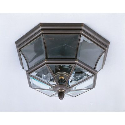 Darby Home Co Saddler 3 Light Flush Mount Finish: Medici Bronze