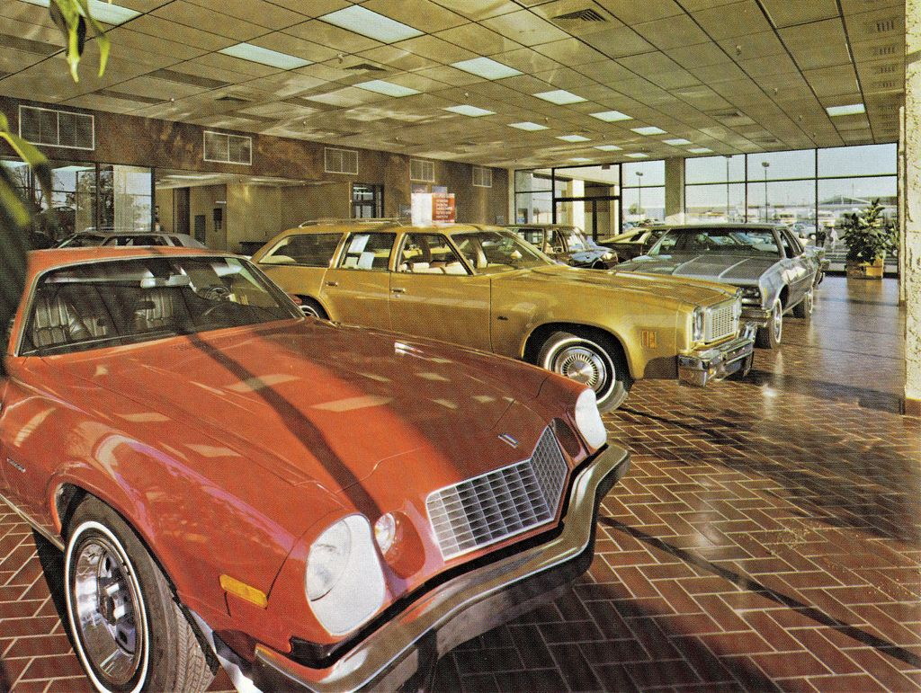 Reliable Chevrolet Springfield Mo 1977 Dealership Showroom