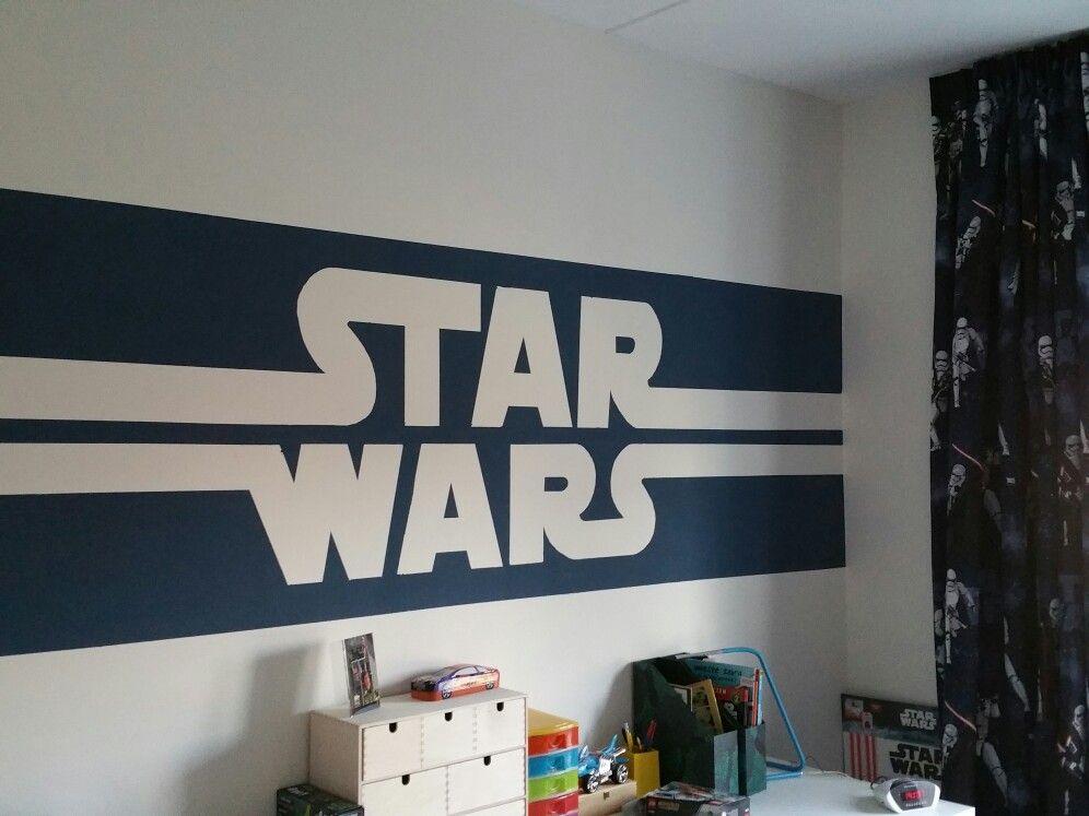 Star wars jongens kamer. Denim blauwe verf, gordijnen Leen Bakker ...