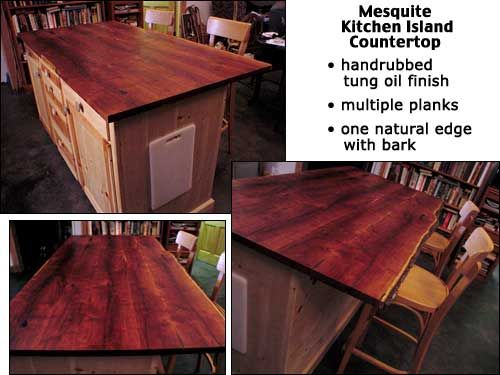 Cedar Kitchen Island | Handcrafted Mesquite Kitchen Island ...