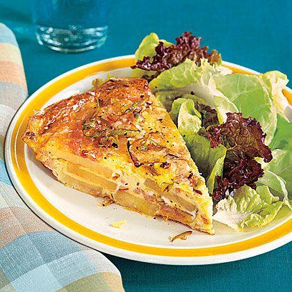 Potato, Leek and Turkey Frittata Recipe   MyRecipes
