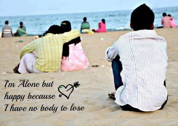 Being Alone No One Can Hurt You Except Yourself Quotes Funny Picture Jokes Happy Alone Jokes Quotes