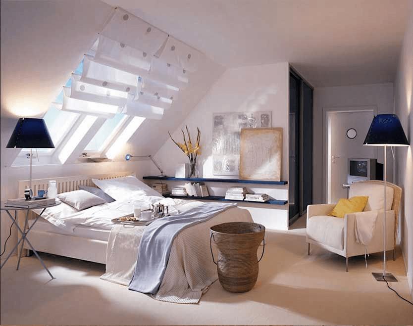 Deko ideen schlafzimmer dachschräge   Schlafzimmer dachschräge, Räume mit dachschrägen ...