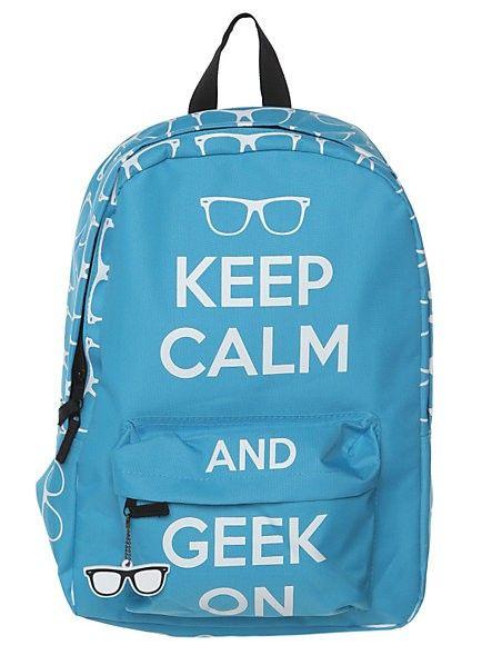 9e86b3f00d Keep Calm And Geek On Backpack  girls  backpacks  fashion  www.loveitsomuch.com
