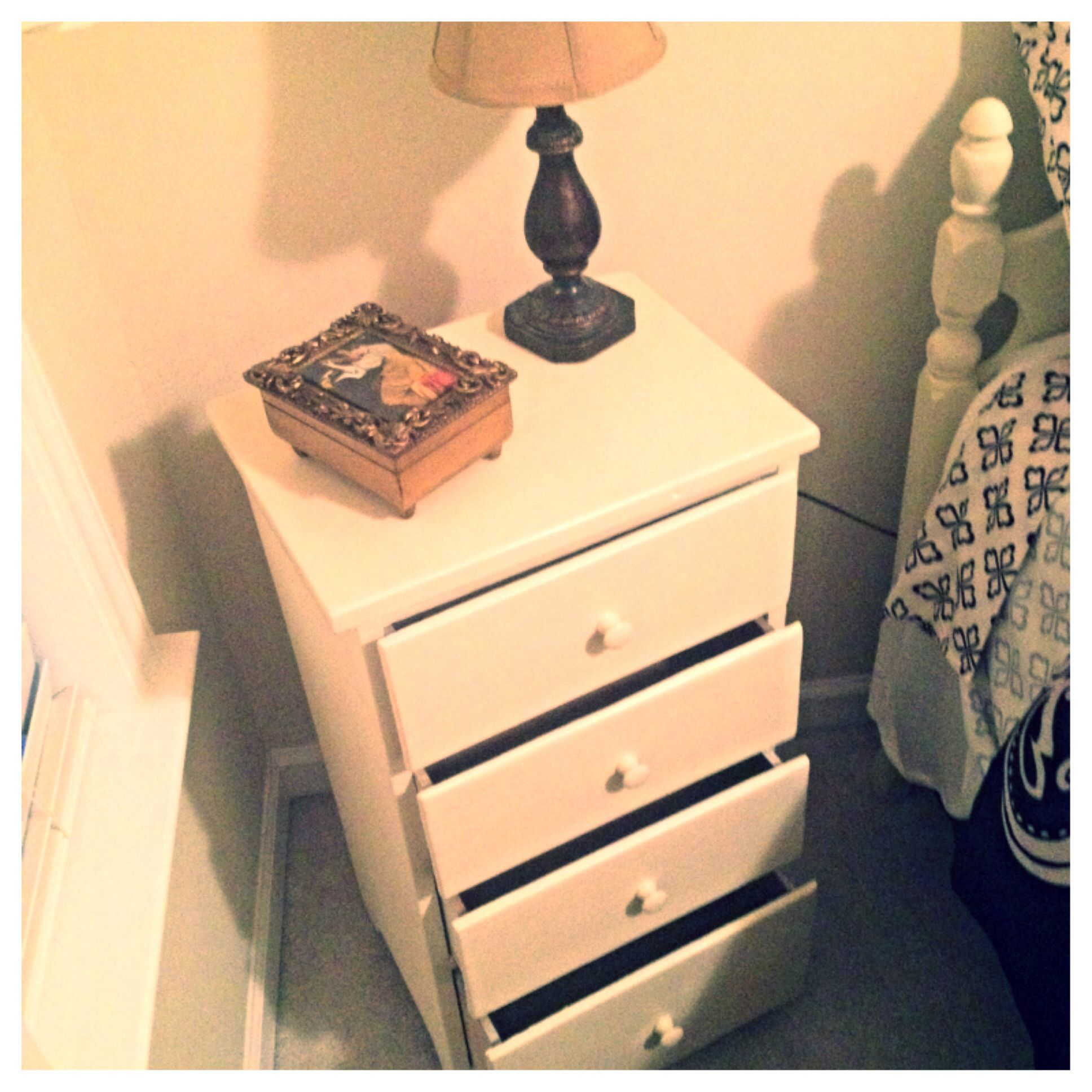 I have had this since childhood. Fresh paint and sand paper, ready to go! #shabbychic #diy