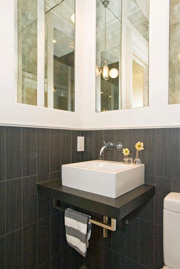 Rectangular Bathroom Tiny Sink