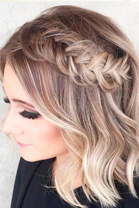 38 Peinados De Moda Para El Pelo Corto Peinados Fiesta Pelo Corto