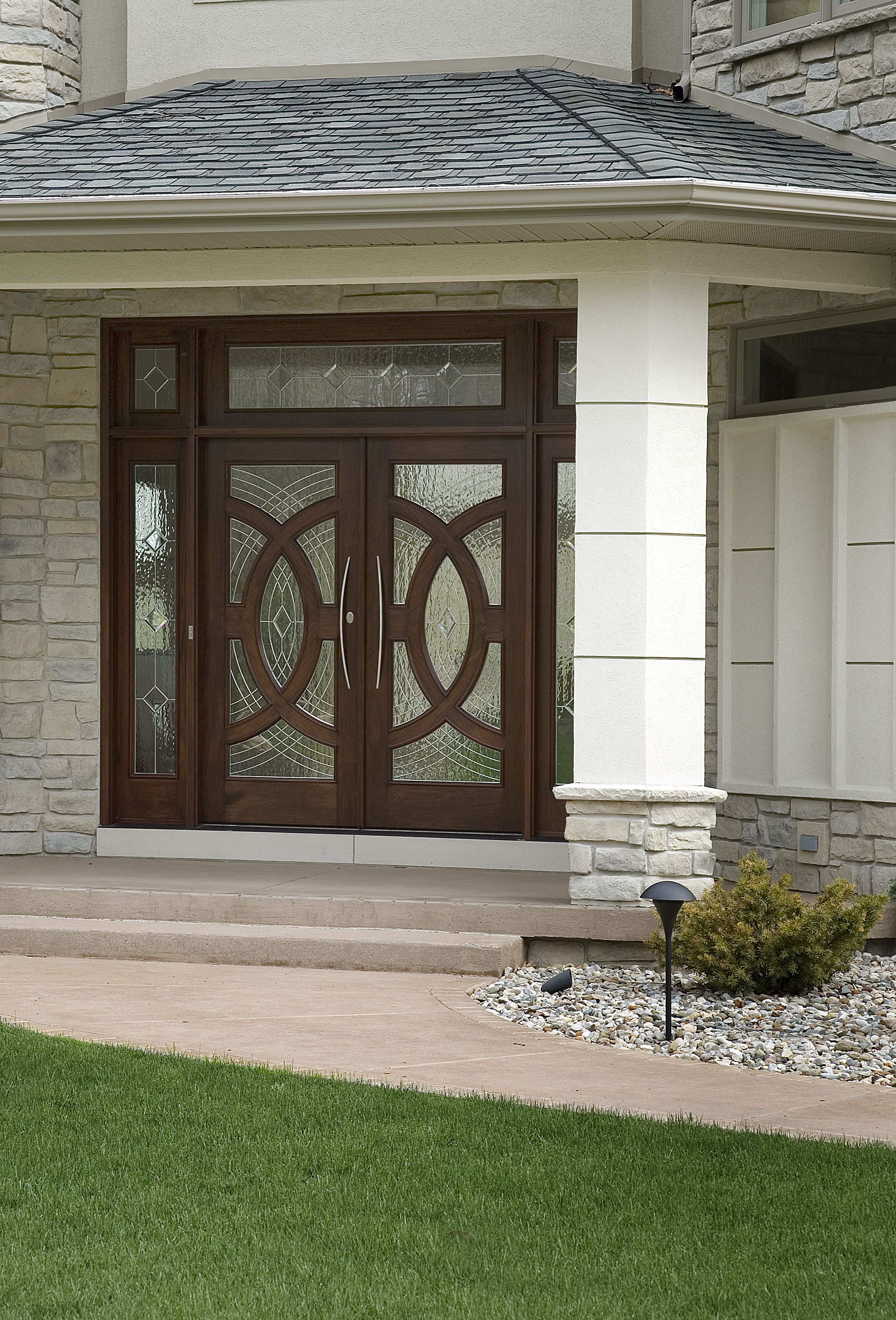 Marvin Custom Entry Door System With Style Y Art Glass Front Door Custom Wood Doors Front Door Design