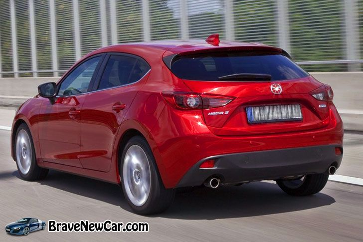 2015 mazda 3 rear view new and upcoming cars mazda mazda 3 mazda 3 hatchback. Black Bedroom Furniture Sets. Home Design Ideas