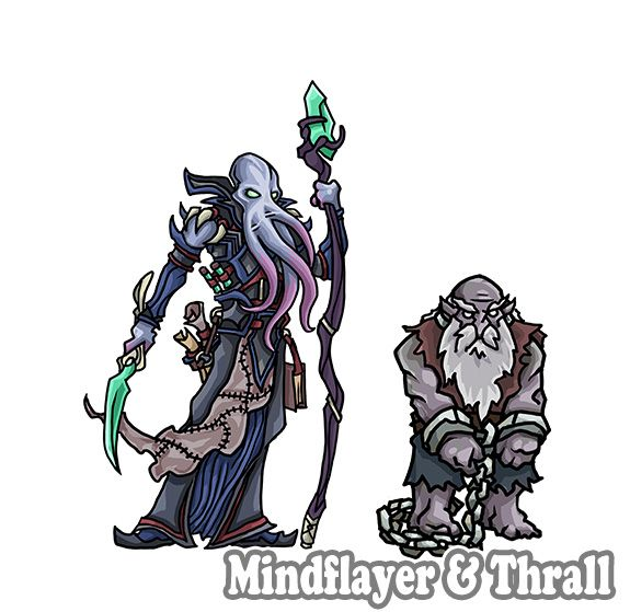 photo relating to Printable Heroes Pdf titled Mindflayer Mage Outcast Duergar Thrall* fastened, downloadable