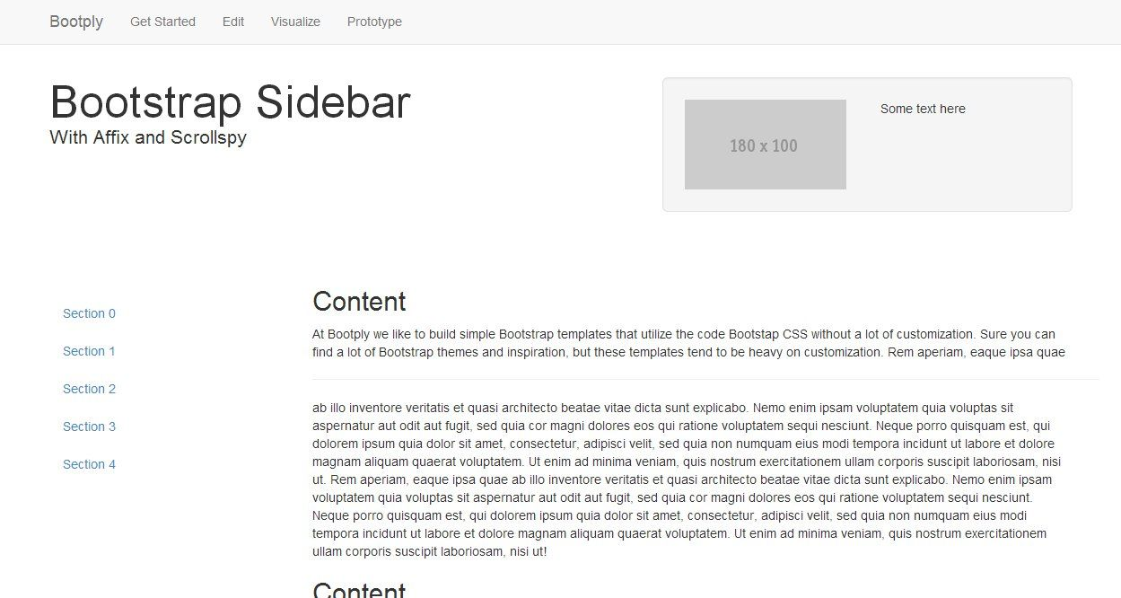 Sidebar like the Bootstrap docs Bootstrap Template  | Bootstrap