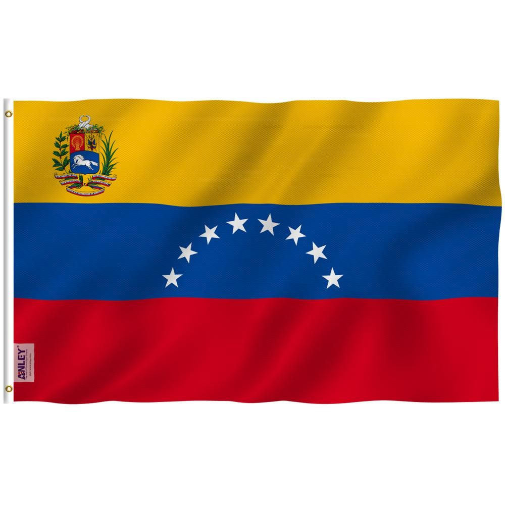 Anley Fly Breeze 3 Ft X 5 Ft Polyester Venezuela Flag 2 Sided Banner With Brass Grommets And Canvas Header Venezuela Flag Flag House Flags