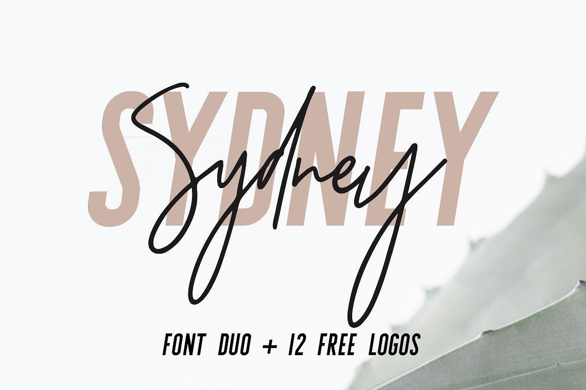Sydney   Font Duo + 12 Free Logos - Sans Serif Sydney is a beautiful