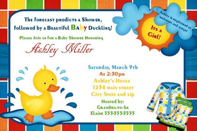 Baby Shower Invitations Duck Baby Shower Invitations baby shower