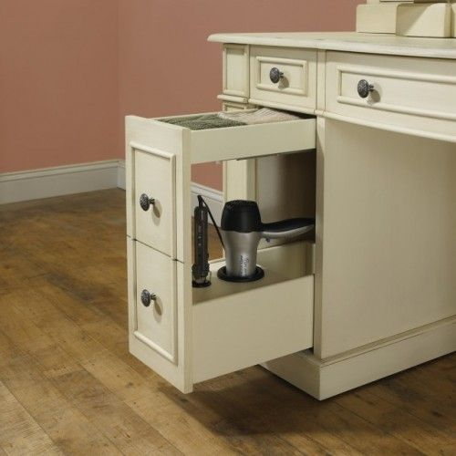 Drawer for hair dryer/flat iron