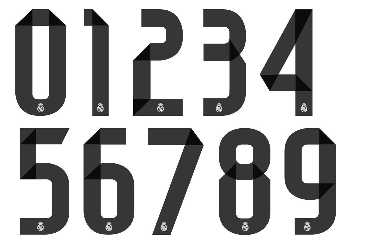 Pin By Heidi On Rugnummer Design Jersey Font Real Madrid Sports Fonts