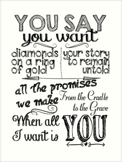 U2 All I Want Is You Chalkboard Art Print By Clad63 In 2020 Chalkboard Art Print Here Lyrics Chalkboard Wall Art