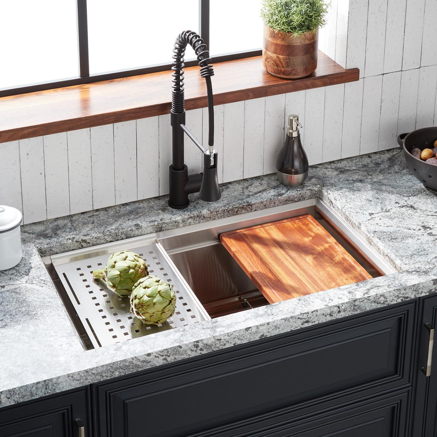 32 Workspace Stainless Steel Farmhouse Sink Stainless Farmhouse Sinks Farmhouse Sinks Kitchen In 2020 Undermount Sink Sink Stainless Steel Farmhouse Sink