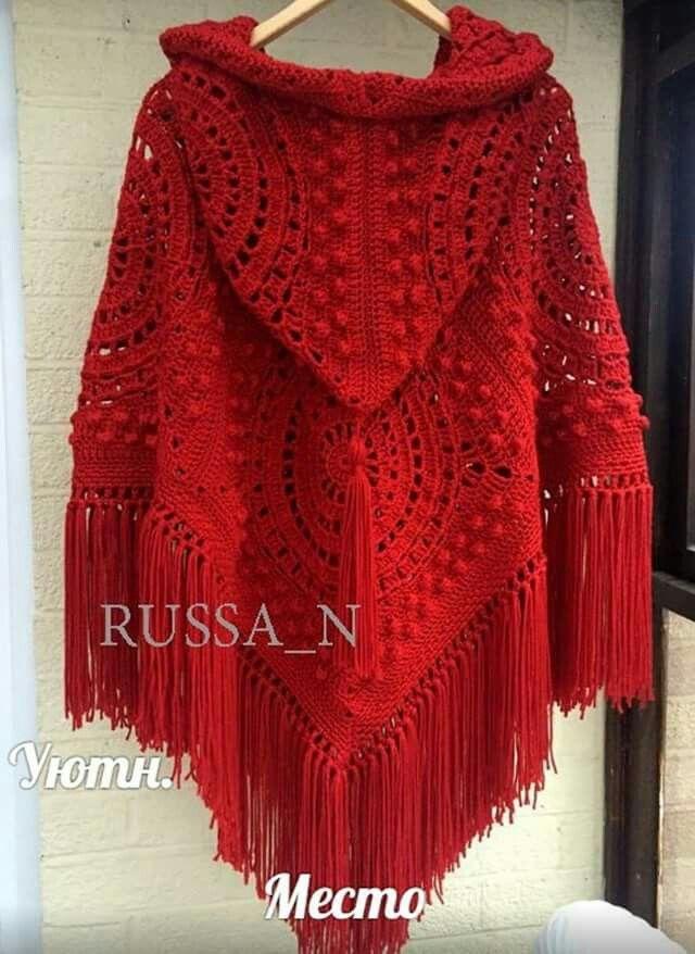 poncho rojo con capucha | Ponchos | Pinterest | Capucha, Rojo y Ponchos