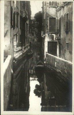 Venice Italy Canal Boat Real Photo c1910 Postcard | eBay