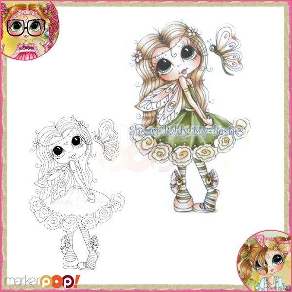 Sherri Baldy My Besties Clear Stamp - Bashful Butterfly