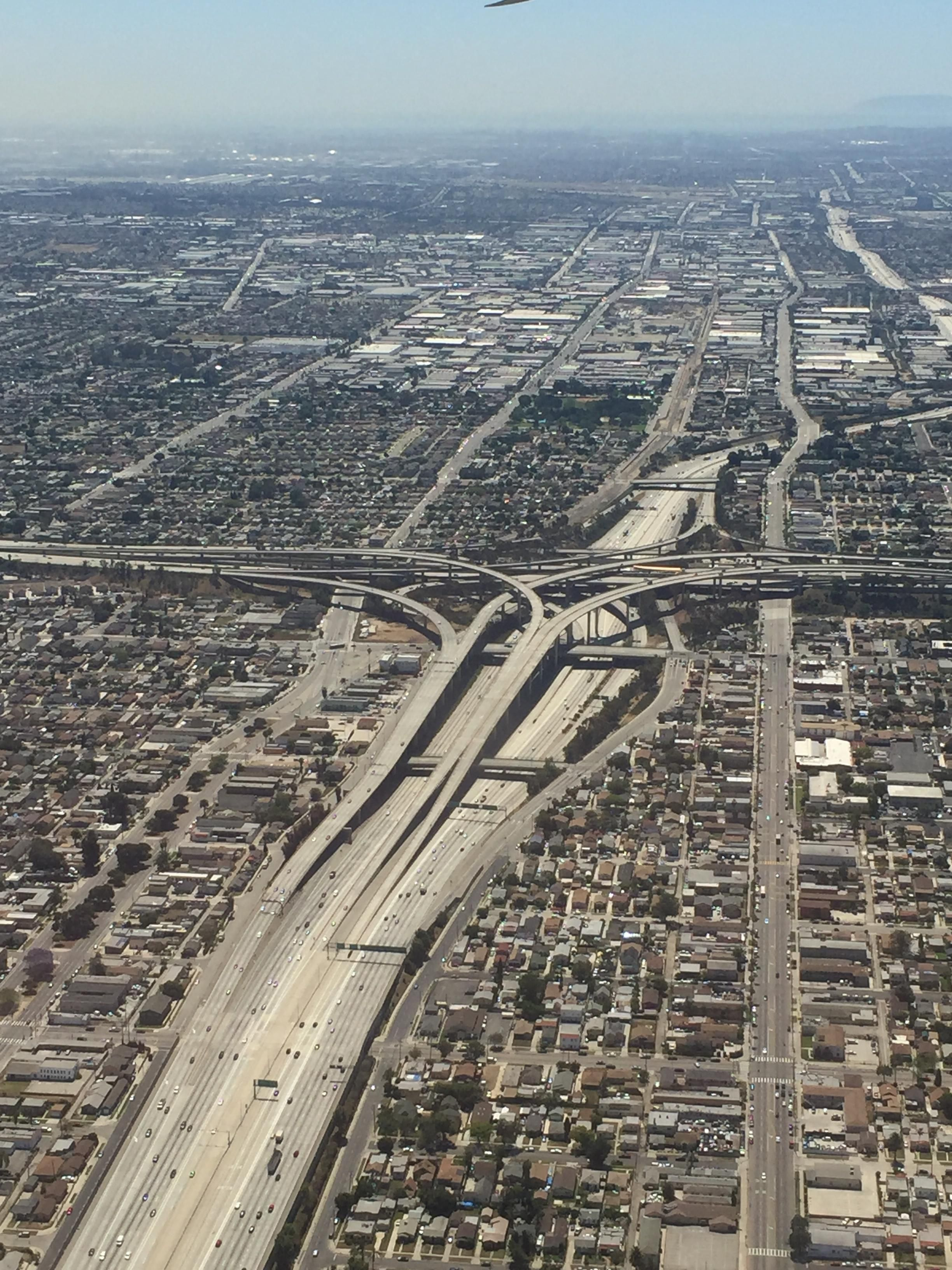 Los Angeles Looking South Over The 110 105 Interchange 2448x3254 Oc R Cityporn Los Angeles City Pictures Usa Cities