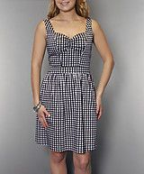 Checkered sweetheart dress -  $30.00 from Suzy Shier
