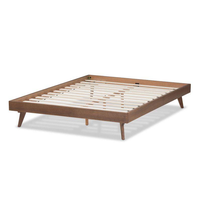 Clayton Platform Bed Walnut Bed Frame Wood Platform Bed Wood
