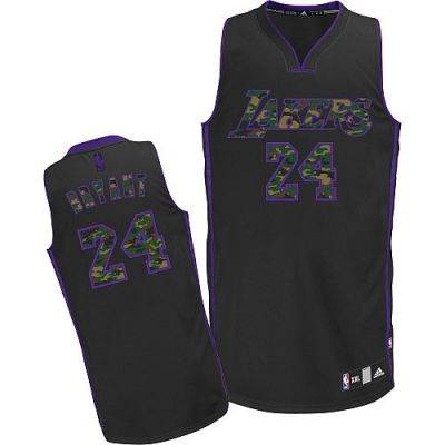 NBA Los Angeles Lakers #24 Kobe Bryant Authentic Black Rhythm Fashion Jerseys