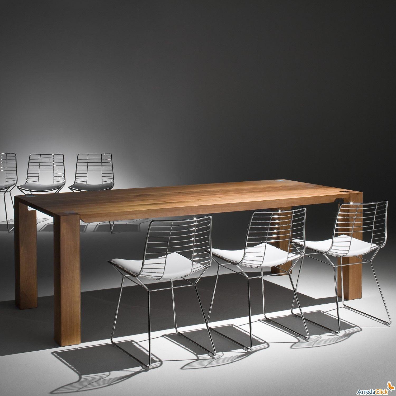tavolo allungabile in legno massello alexis - arredaclick ... - Tavolo Allungabile Legno Massello