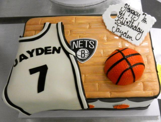 Astounding Brooklyn Nets Themed Birthday Cake With Images Birthday Sheet Personalised Birthday Cards Veneteletsinfo