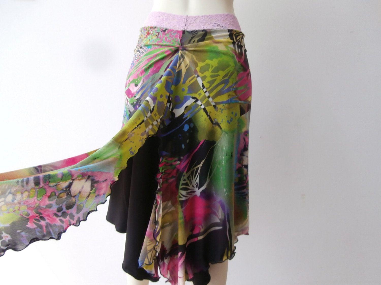Argentinian Tango & Salsa 2 layered Skirt US  4 to 8  Milongo Dance Wear amazing Print high End Netting by COCOsDANCEWEAR on Etsy