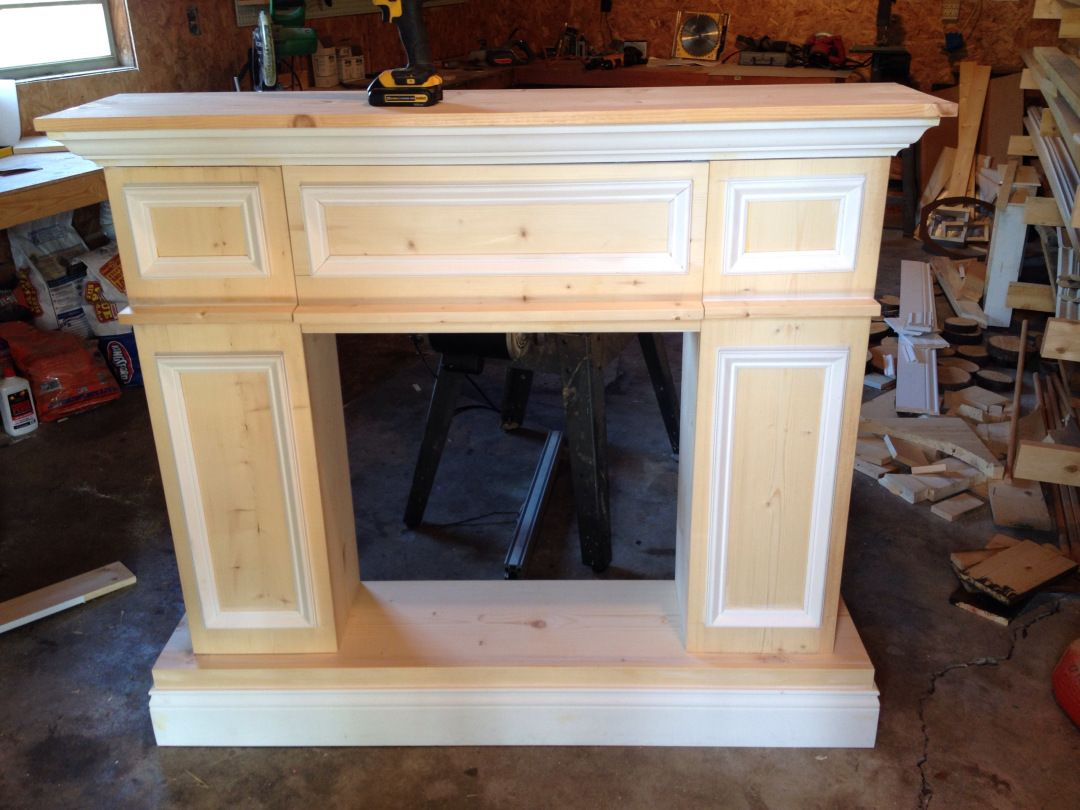 fake it til you make it the making of a faux fireplace cheminée