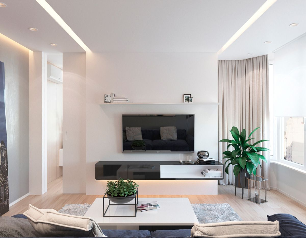 2 One Bedroom Apartments with Modern Color Schemes   Pinterest ...