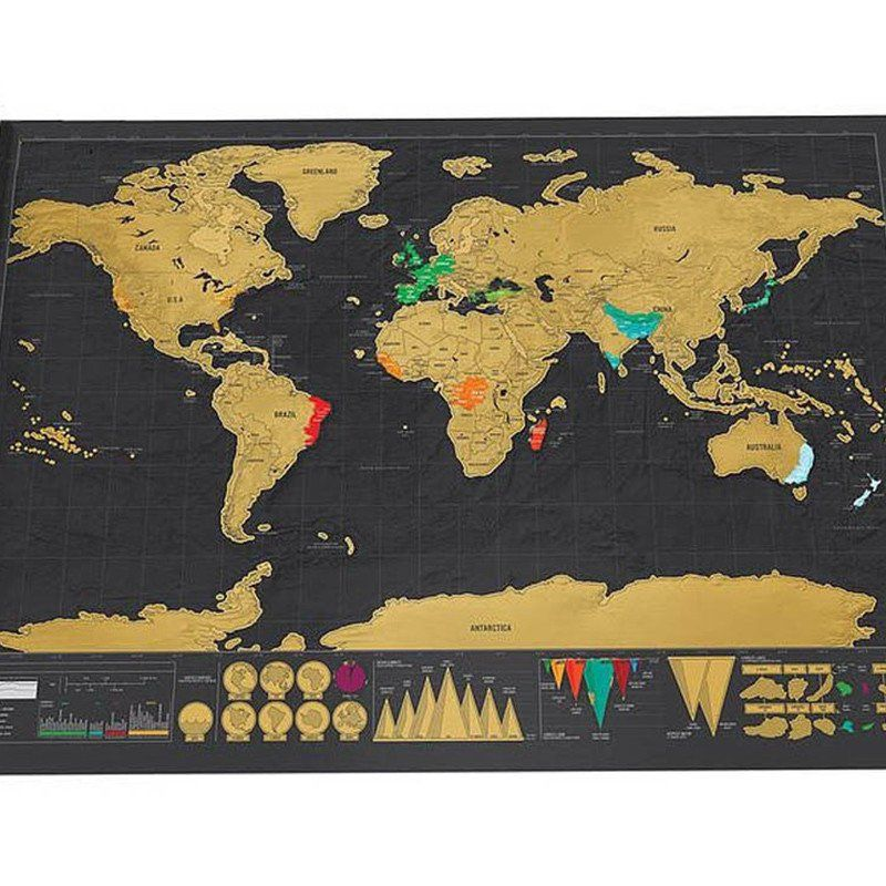 Scratch the world map by xtreme pursuits deluxe version wall deluxe scratch world map one scratch map deluxe edition travel portable map outdoor recreation topographic maps x visit the image link more details publicscrutiny Images