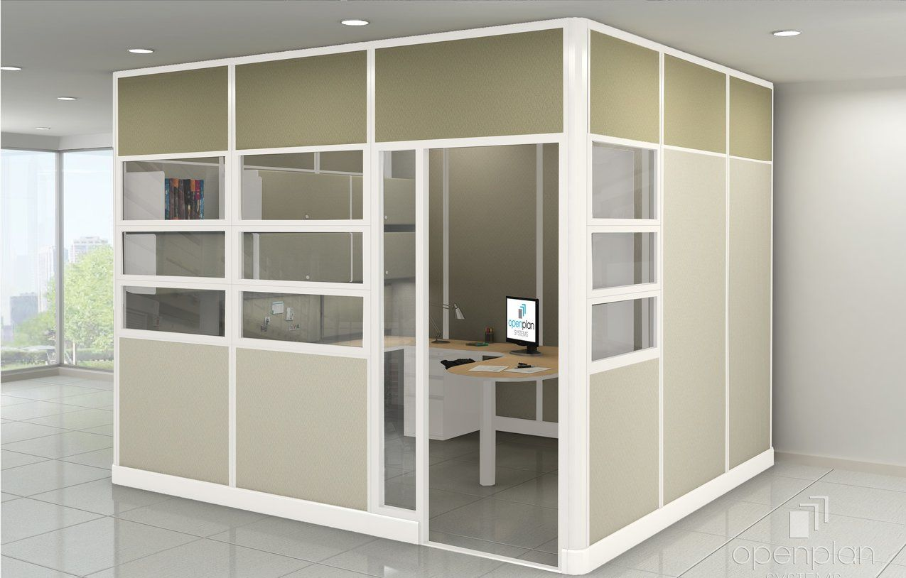 Modular Walls by Open Plan Systems | High ceiling office design ...