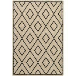 Photo of benuta Hochflorteppich Tika Cream 100×150 cm – Berber Teppich benuta