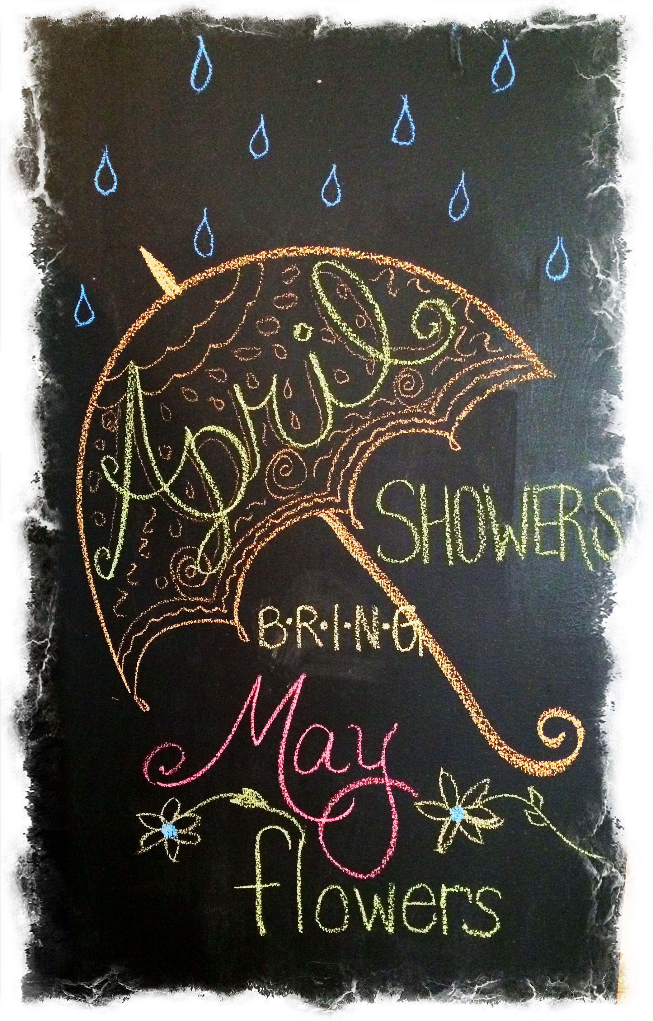 April Chalkboard Art Chalkboard Art Spring Chalkboard Art