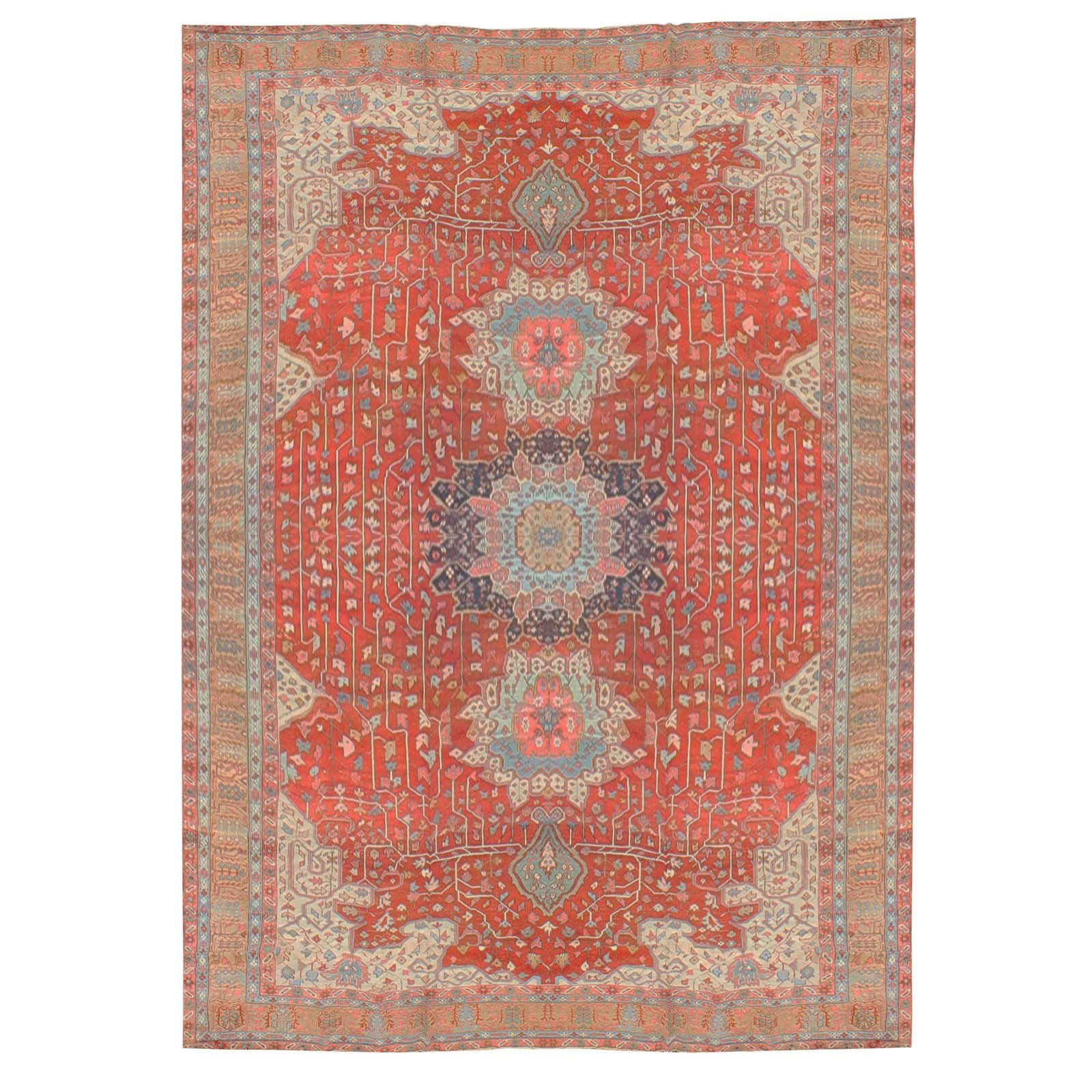 Antique 1880s Handknotted Serapi Rug Dimensions 16 22 Buying Carpet Plush Carpet Serapi Rug