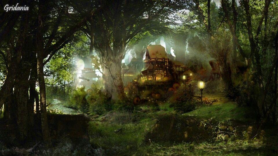 Gridania Ffxiv Arr Fantasy Background Scenery Wallpaper Fantasy Images