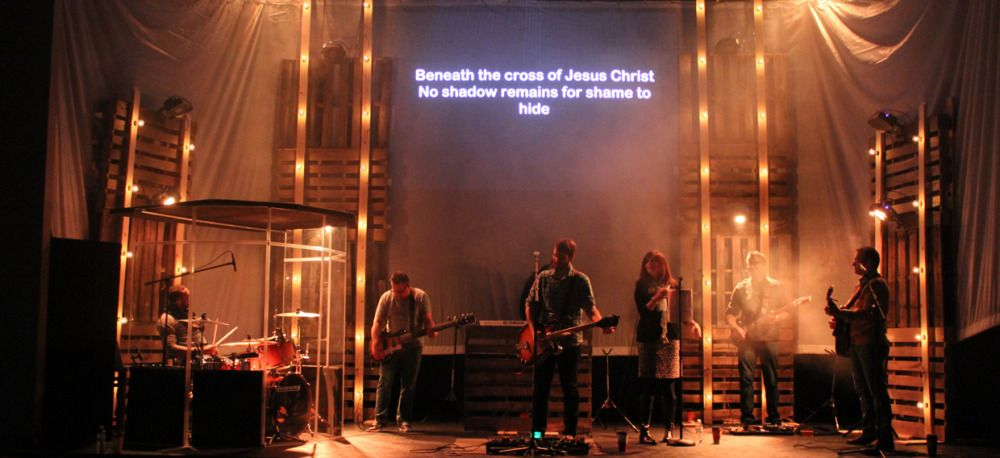 Scrim Tower Lights from The Crossing in Keokuk, IA | Church Stage ...