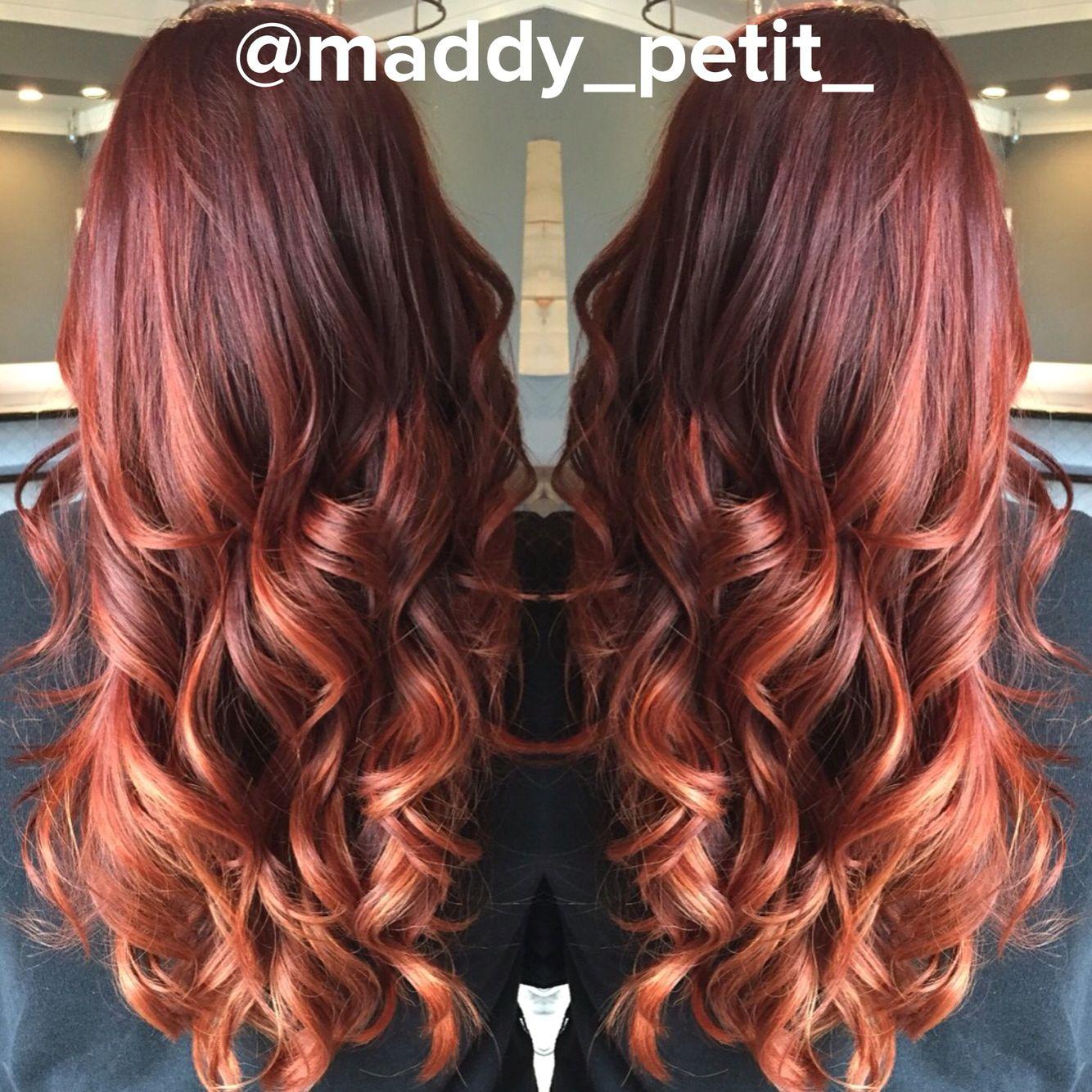 Long Red Copper Balayage Blonde Balayage Hair Styles Balayage Hair