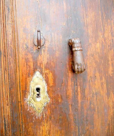 Ancient village door knocker